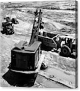 1950s Construction Site Excavation Acrylic Print