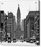 1950s Downtown Philadelphia Pa Usa Acrylic Print