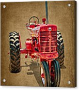1950s Era International Harvester Tractor E108 Acrylic Print by Wendell Franks