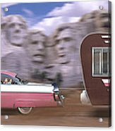 1950s Family Vacation Panoramic Acrylic Print