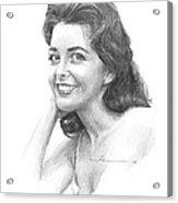 1950s Starlet Pencil Portrait Acrylic Print