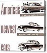 1951 - Kaiser Frazer Manhattan Automobile Advertisement - Color Acrylic Print