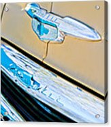 1951 Chevrolet Style Deluxe Grille Emblem Acrylic Print