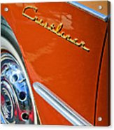 1951 Ford Crestliner Emblem - Wheel Acrylic Print