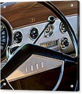 1951 Ford Crestliner Steering Wheel Acrylic Print