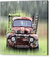 1951 Ford Truck - Found On Road Dead Acrylic Print