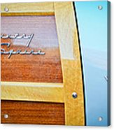 1951 Ford Woodie Country Squire Emblem Acrylic Print