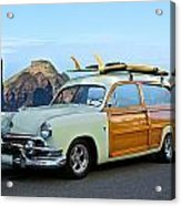 1951 Ford 'woody' Wagon Acrylic Print