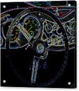 1951 Mg Td Dashboard_neon Car Art Acrylic Print