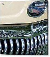1952 Buick Eight Grill Acrylic Print