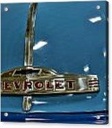 1952 Chevrolet Pickup Hood Acrylic Print