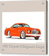 1952 Chrysler Delegance Concept Acrylic Print by Jack Pumphrey