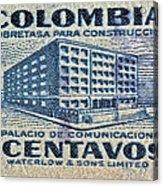 1952 Columbian Stamp Acrylic Print