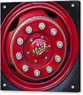 1952 L Model Mack Pumper Fire Truck Wheel Acrylic Print