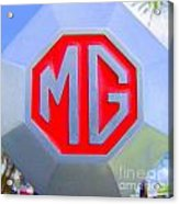 1952 Mg Roadster Emblem Acrylic Print