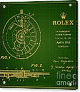 1952 Rolex Calendar Timepiece 1 Acrylic Print