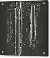 1953 Aerial Missile Patent Gray Acrylic Print by Nikki Marie Smith