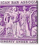 1953 American Bar Association Postage Stamp Acrylic Print