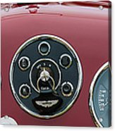 1953 Aston Martin Db2-4 Bertone Roadster Instrument Panel Acrylic Print