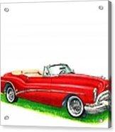 1953 Buick Skylark Convertible Acrylic Print