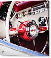 1953 Chevrolet Corvette Steering Wheel Emblem -1400c Acrylic Print