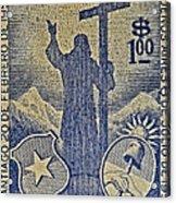 1953 Chile Stamp Acrylic Print