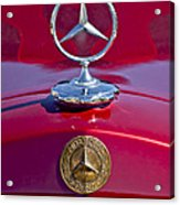 1953 Mercedes Benz Hood Ornament Acrylic Print