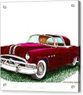 1953 Pontiac Parisienne Concept Acrylic Print by Jack Pumphrey