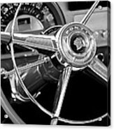 1953 Pontiac Steering Wheel 2 Acrylic Print