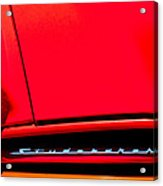1953 Studebaker Coupe Grille Emblem Acrylic Print
