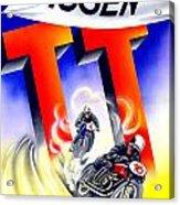 1954 - Assen Tt Motorcycle Poster - Color Acrylic Print