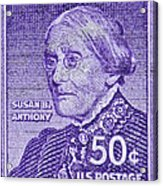 1954-1961 Susan B. Anthony Stamp Acrylic Print