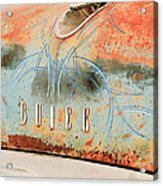 1954 Buick Special Hood Ornament Acrylic Print by Jill Reger
