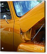 1954 Chevrolet And A 1963 Lemans Reflection Acrylic Print