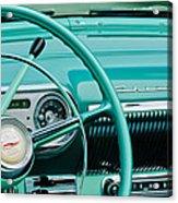 1954 Chevrolet Belair Steering Wheel 3 Acrylic Print