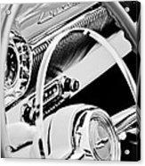 1954 Chevrolet Belair Steering Wheel Emblem -1535bw Acrylic Print