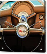 1954 Chevrolet Corvette Convertible  Steering Wheel Acrylic Print by Jill Reger