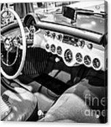 1954 Chevrolet Corvette Interior Black And White Picture Acrylic Print