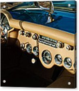1954 Chevrolet Corvette Steering Wheel -502c Acrylic Print