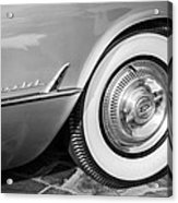 1954 Chevrolet Corvette Wheel Emblem -159bw Acrylic Print