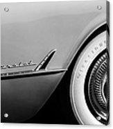 1954 Chevrolet Corvette Wheel Emblem -282bw Acrylic Print