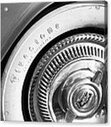 1954 Chevrolet Corvette Wheel Emblem -290bw Acrylic Print