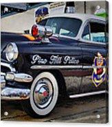 1954 Chevy Dare Police Car  Pine Hill  Nj Acrylic Print