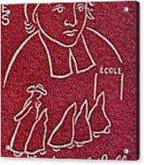 1954 De La Salle Monaco Stamp Acrylic Print