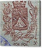 1954 El Salvador Stamp Acrylic Print