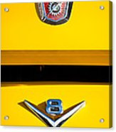 1954 Ford F-100 Custom Pickup Truck Emblems Acrylic Print
