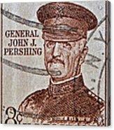 1954 General John J. Pershing Stamp Acrylic Print