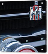 1954 International Harvester R140 Woody Grille Emblem Acrylic Print by Jill Reger