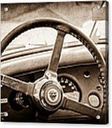 1954 Jaguar Xk120 Roadster Steering Wheel Emblem Acrylic Print