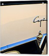 1954 Lincoln Capri Convertible Emblem 2 Acrylic Print by Jill Reger
